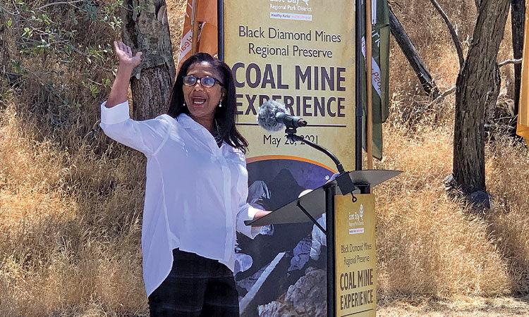 Mine exhibit opens at Black Diamond Park - Monica Wilson