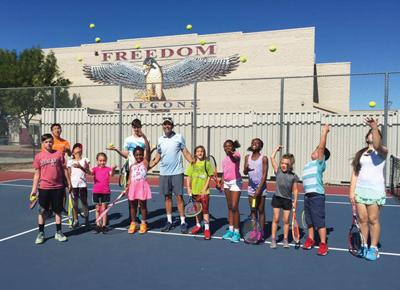 Freedom tennis camp