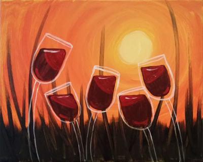 Wine painting at Hannah Nicole