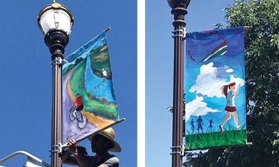 Banners adorn downtown