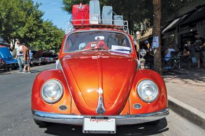 Buggin' out at the car show