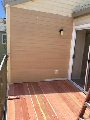 New deck and siding