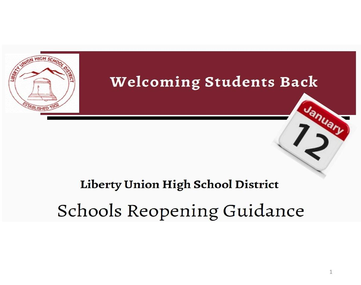 LUHSD School reopening guidance