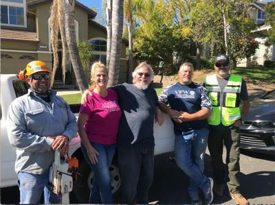 Volunteers help veteran