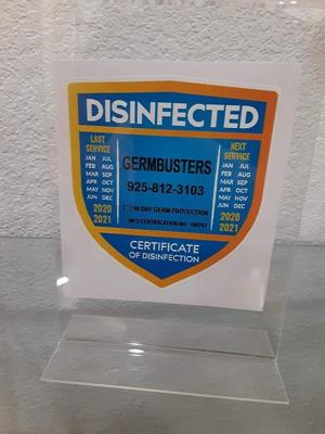 Disinfected
