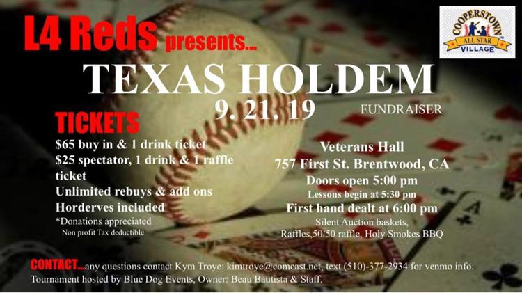 Texas Hold'em hosted by L4 Reds and Blue Dog Events