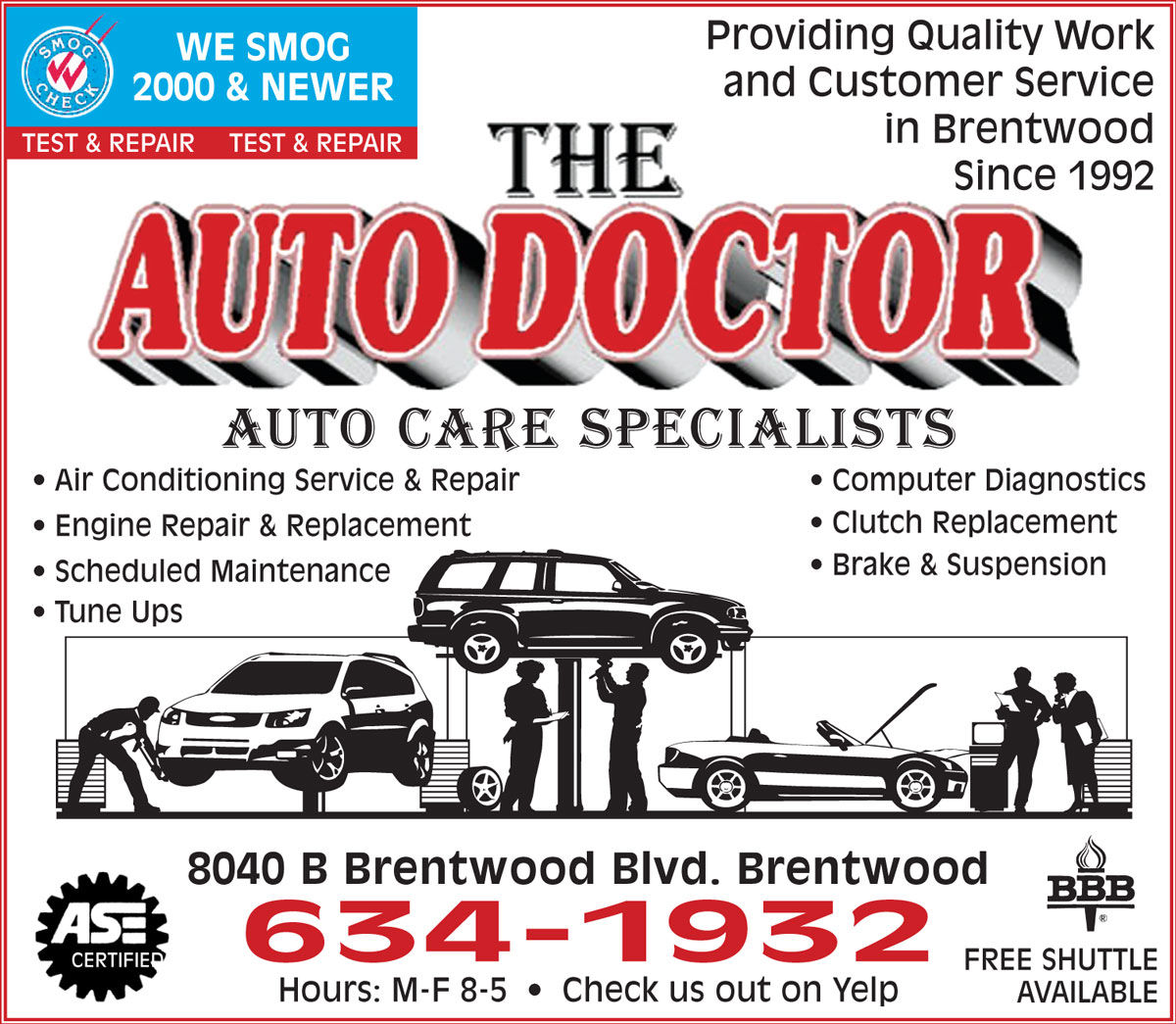 The Auto Doctor Auto Service Brentwood Ca