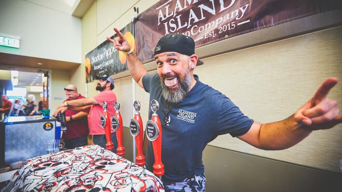 Pouring brew at Brentwood's Craft Beer Festival