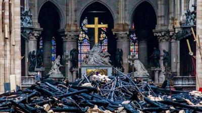 Notre Dame fire leaves the cathedral in ruins