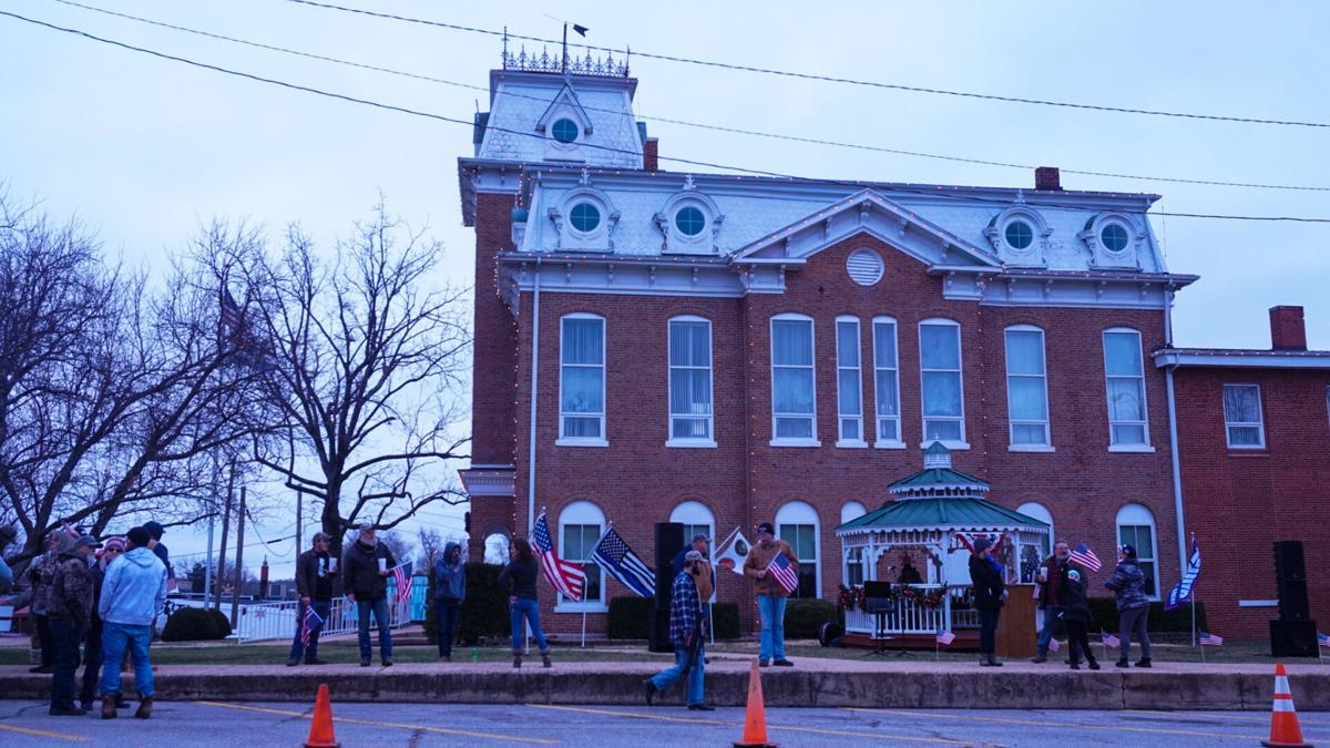 Patriotic rally at the Dent County Courthouse