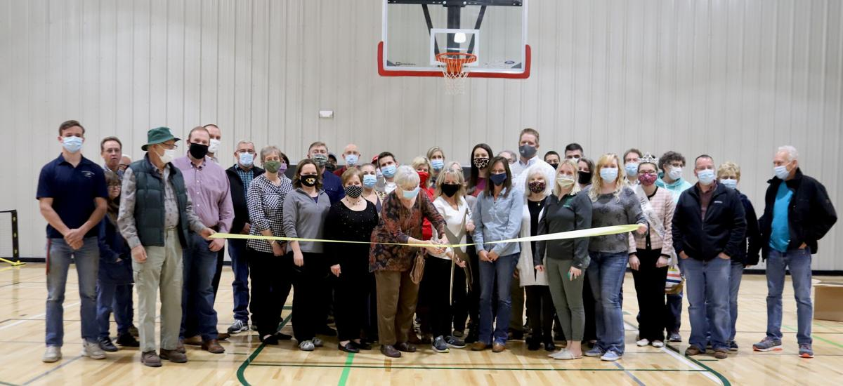Ribbon cutting - grand opening of the new gymnasium