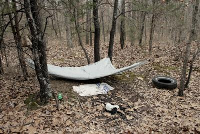 One of the many homeless camps in the woods immediately outside of Salem