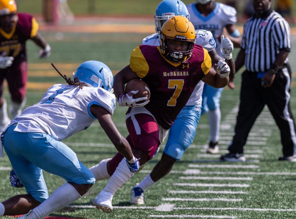 High School Football:Eastern High School vs Bishop McNamara