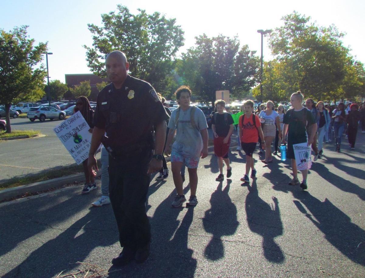 Climate March-Officer Leads Kids