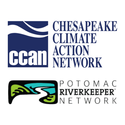 Chesapeake Climate Action Network and Potomac River Keeper Network logos