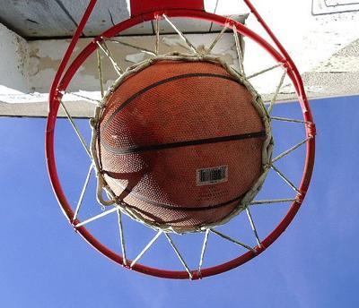 Outdoor Basketball in Hoop