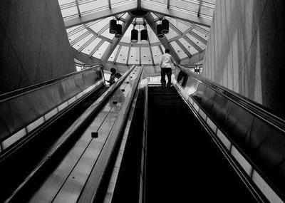 Columbia Heights Metro station escalator