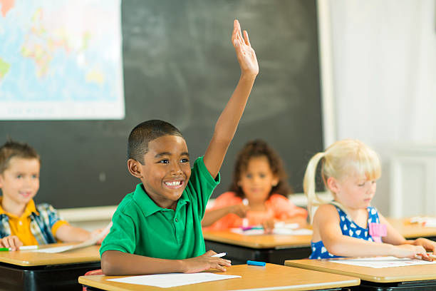 Elementary school children in class.