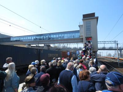 4. Passengers from the Westerdam are delayed by Russian train security