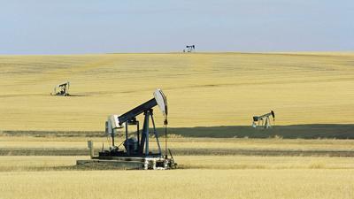 Oil pump jacks stock