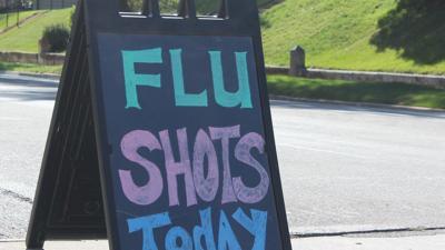 flu shots today sign