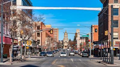 Downtown Cheyenne stock