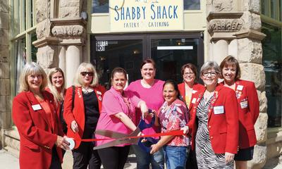 Shabby Shack ribbon cutting