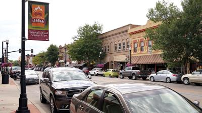 Downtown Sheridan stock summer