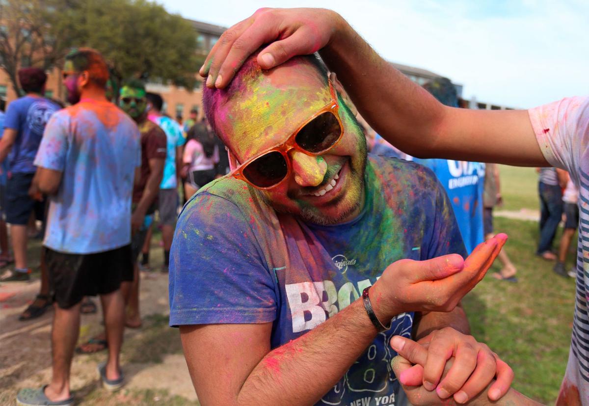 Photos: Students celebrate Holi, the Hindu festival of colors