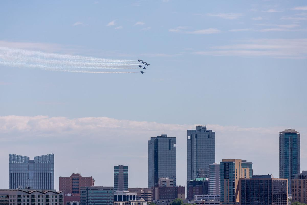 Photos: Blue Angels soar above the Metroplex for Operation America Strong demonstration
