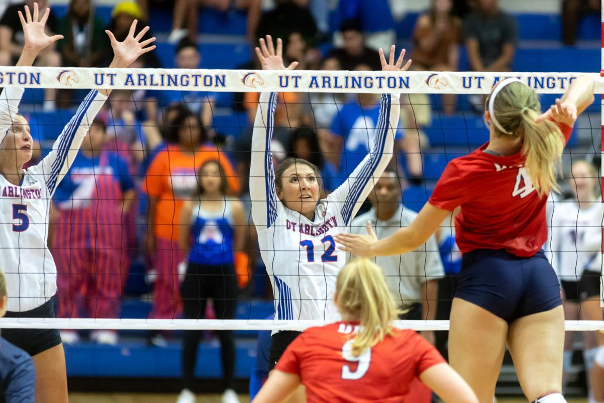 Photos: UTA volleyball kicks off season with exhibition win against Dallas Baptist University