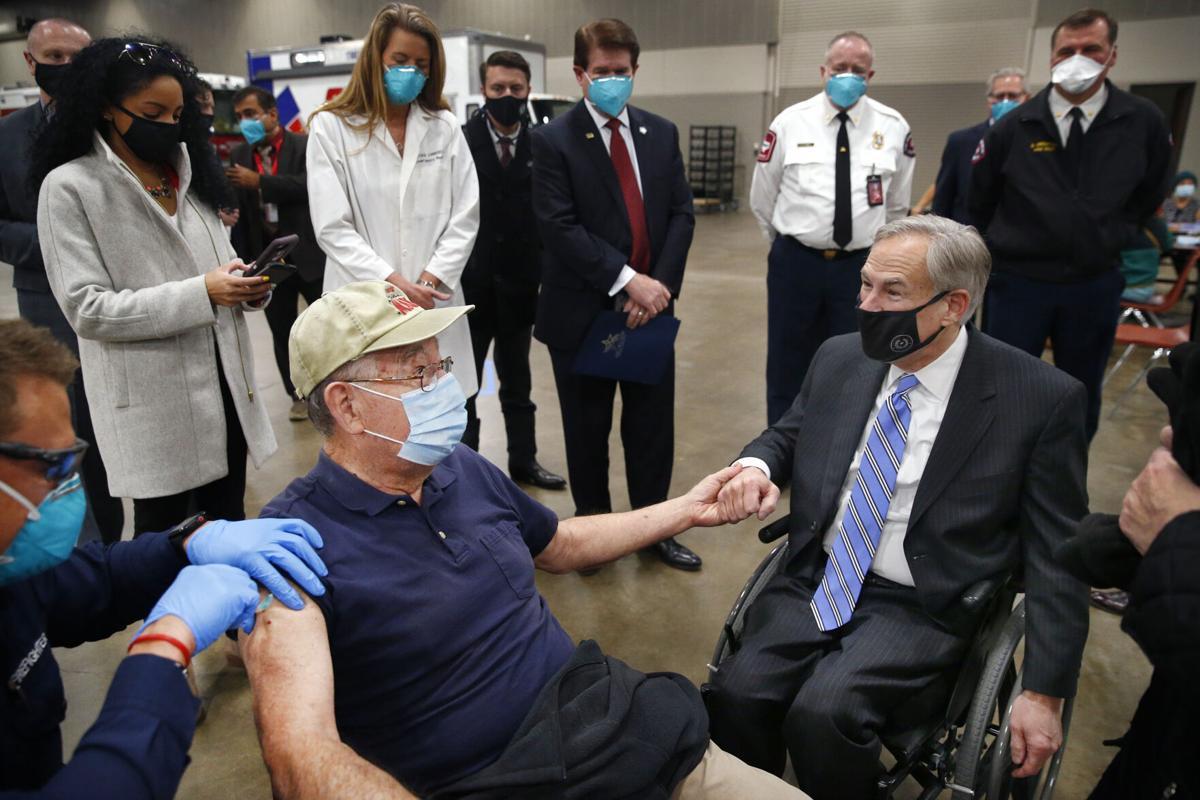 Gov. Greg Abbott visits Arlington's COVID-19 vaccine distribution center