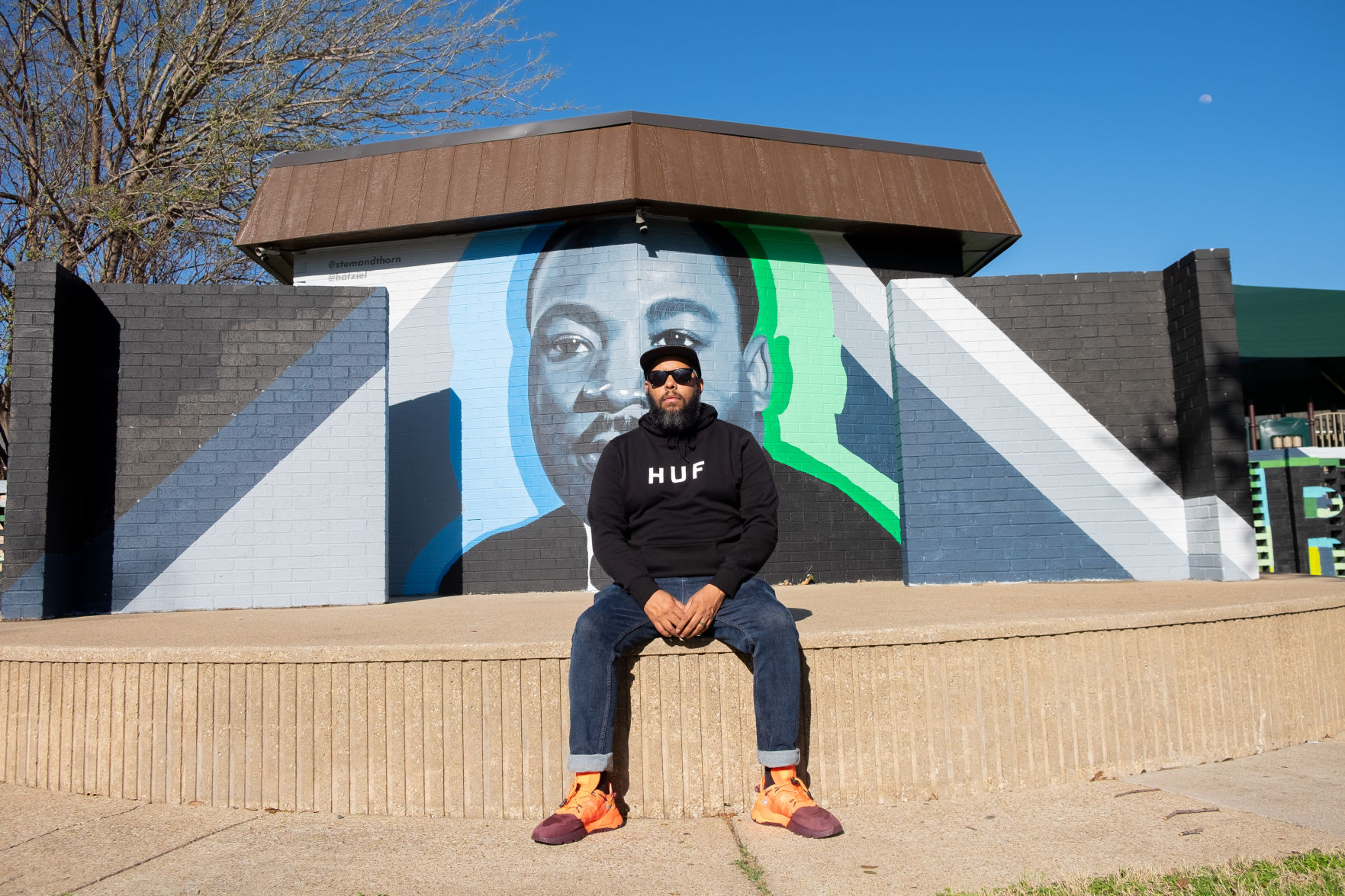 'Art is for everybody': UTA alumnus Jeremy Biggers' art personifies Latinx, black representation