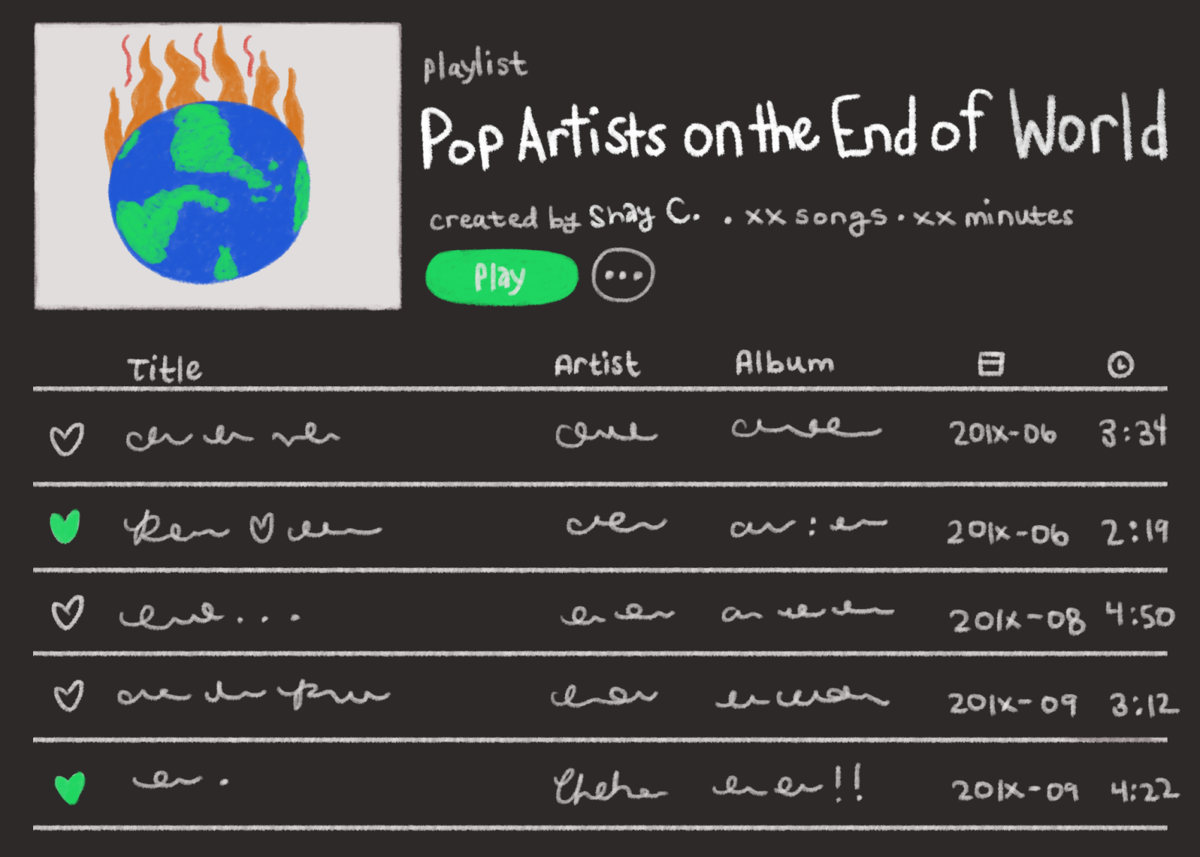 Opinion: A pop playlist for the end of the world