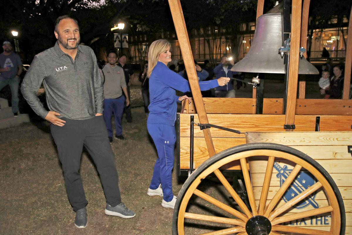 From the days of UTA football, the Victory Bell returns to athletics