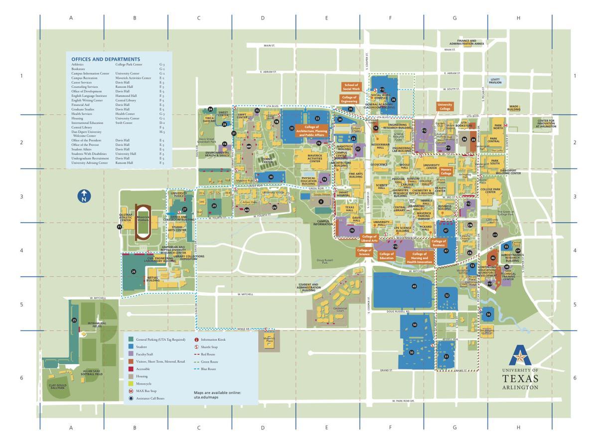 UTA Campus Map | | theshorthorn.com