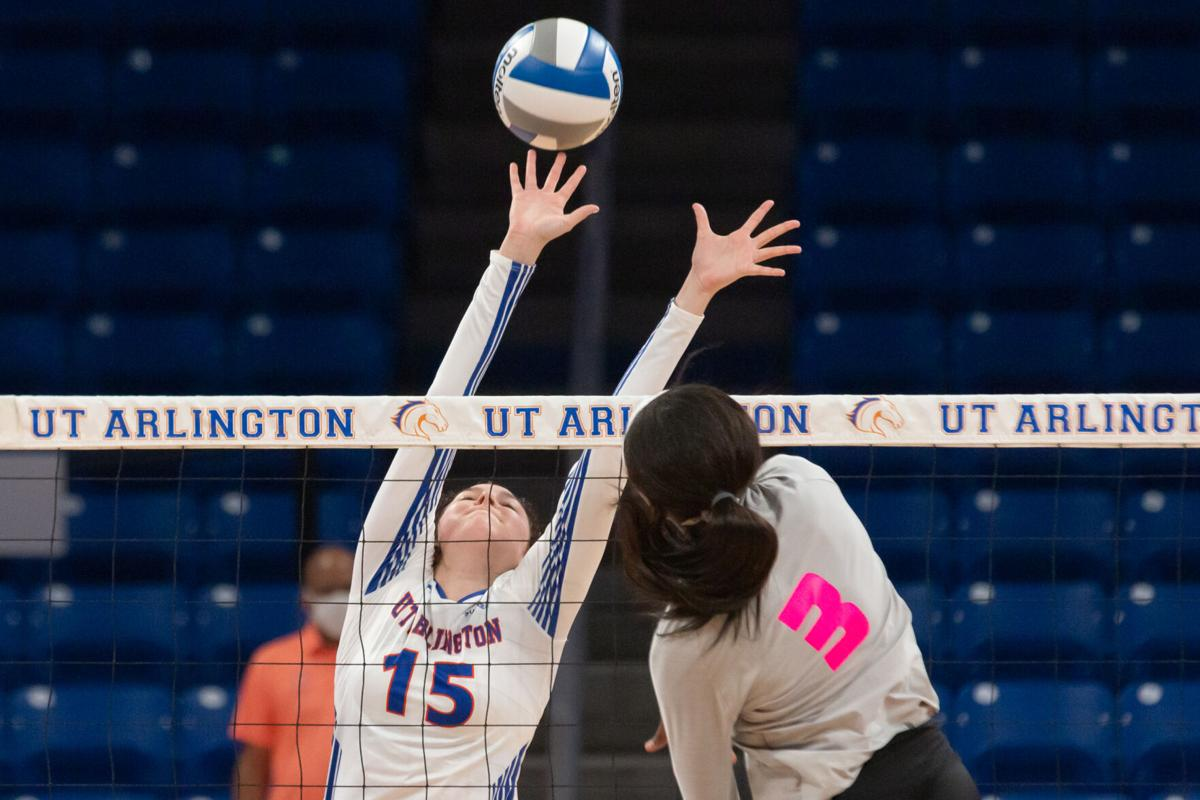 Photos: UTA volleyball falls to in-state rival Texas State University