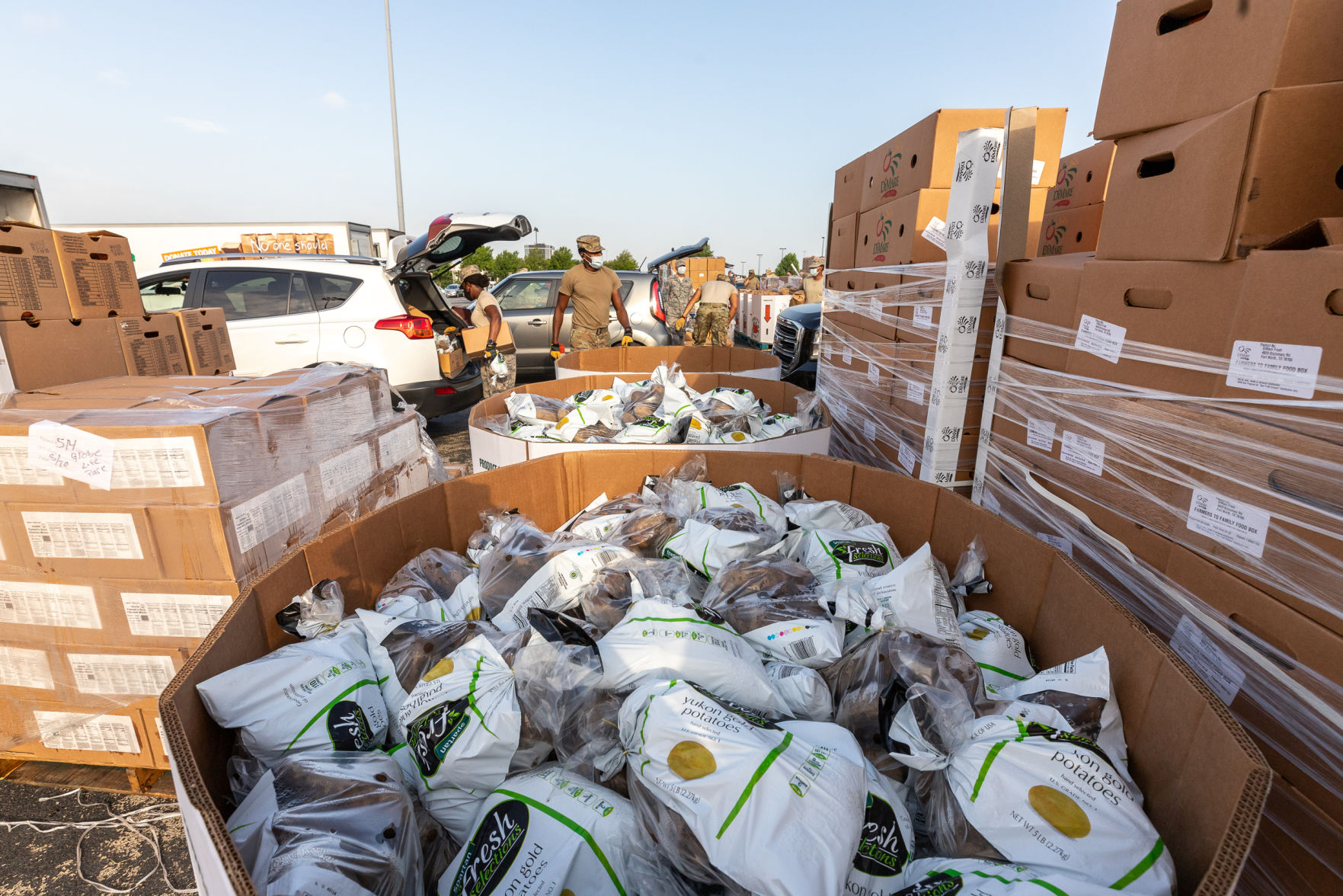 Tarrant Area Food Bank distributes thousands of pounds of food to families struggling amid COVID-19