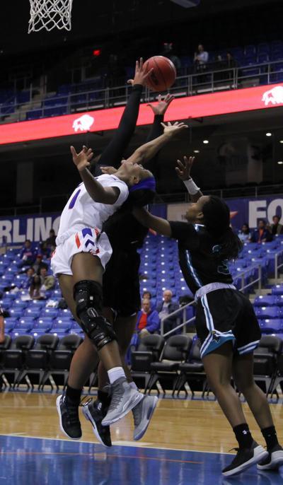 Cierra Johnson steals the show as women's basketball snags third consecutive win