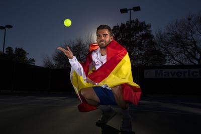 Nuez claims Sun Belt honors after big singles tennis wins
