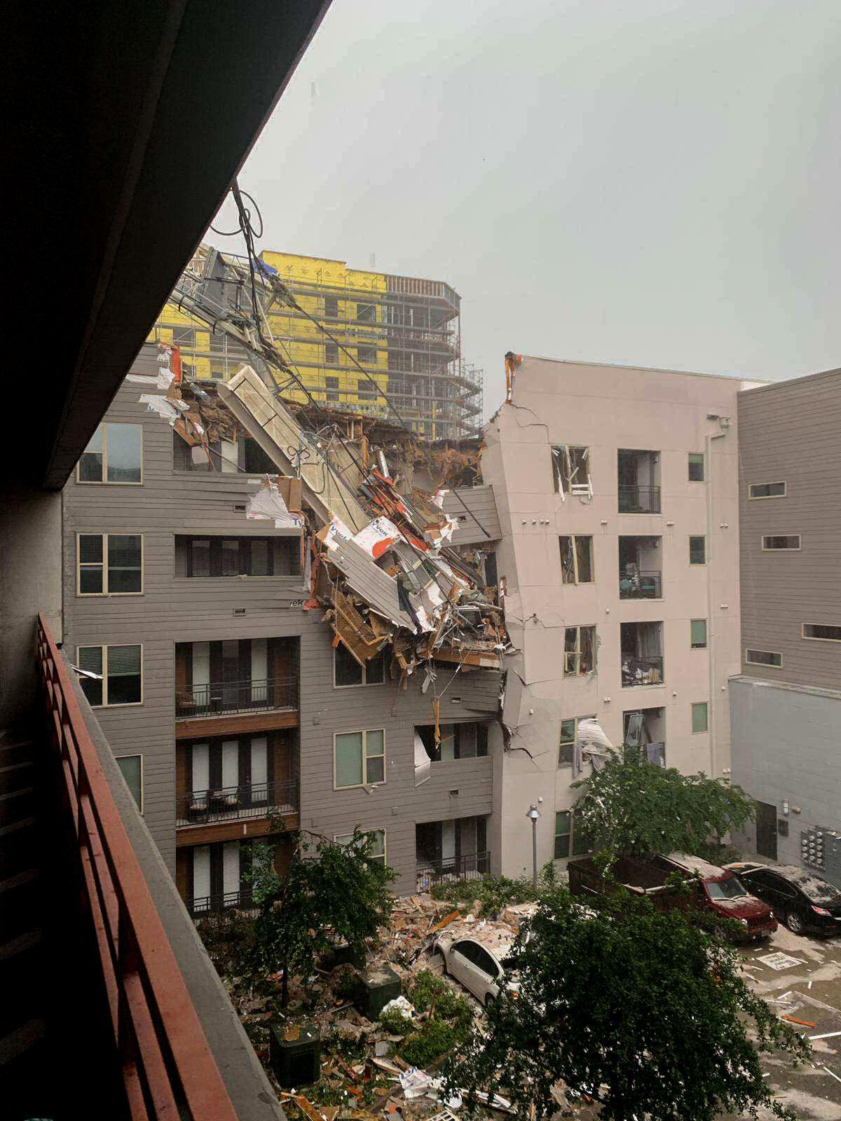 Crane crashes into, destroys alumna's Dallas apartment