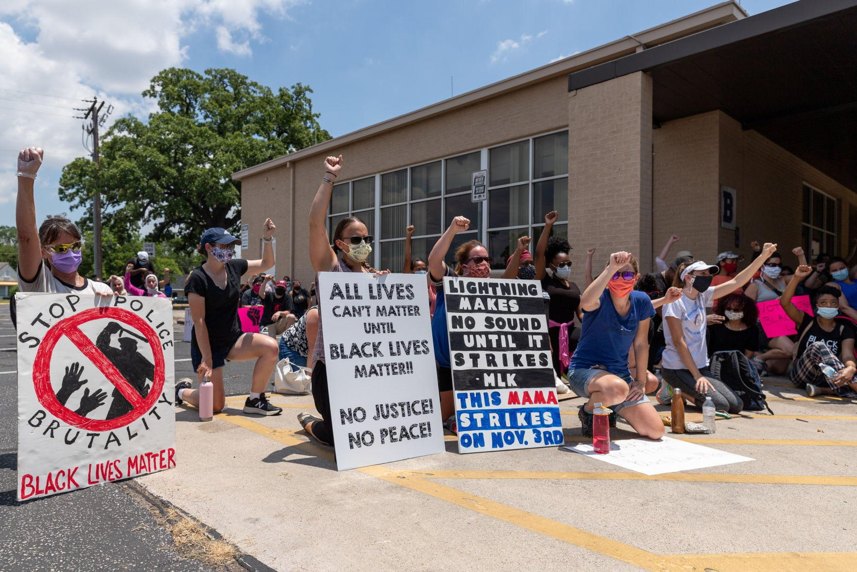 Photos: UTA School of Social work co-hosts on-campus march against police brutality