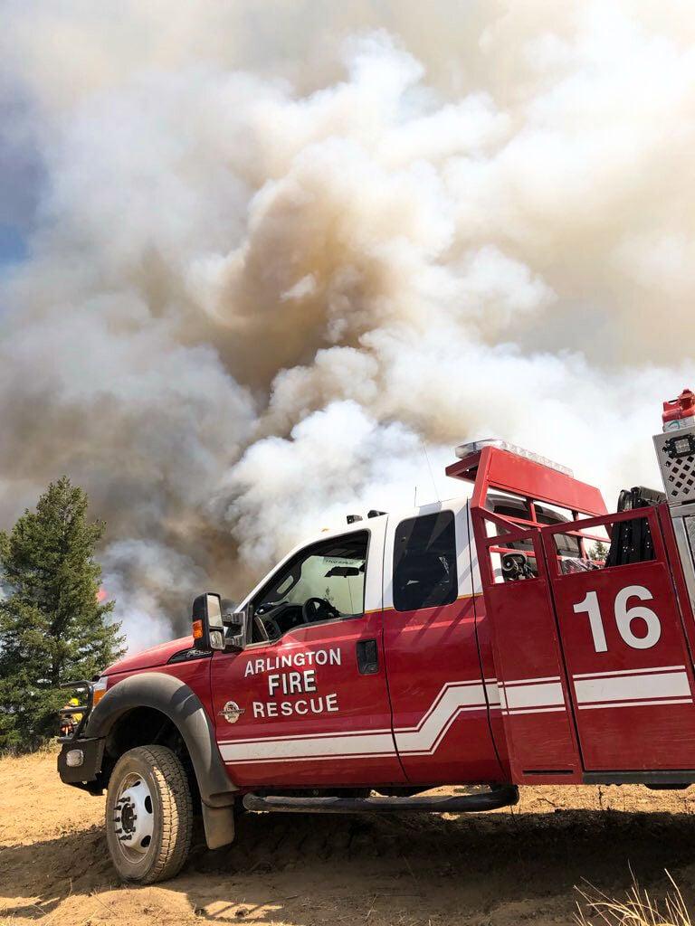 Arlington Fire Department helps fight August Complex Fire spreading across California