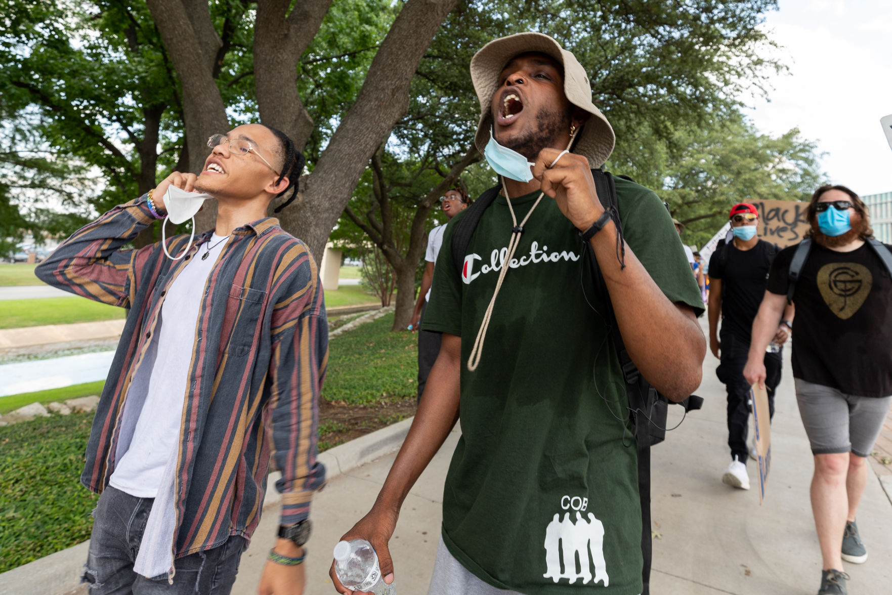 'That could've been me': UTA students march, seek systemic change for black Americans