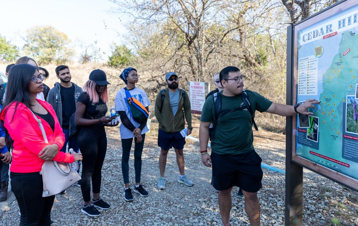 Campus Recreation's Adventure Trips program takes students hiking at Cedar Hill State Park