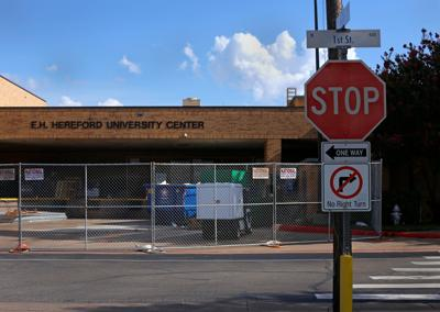 University Center renovations to block off a section of West First Street