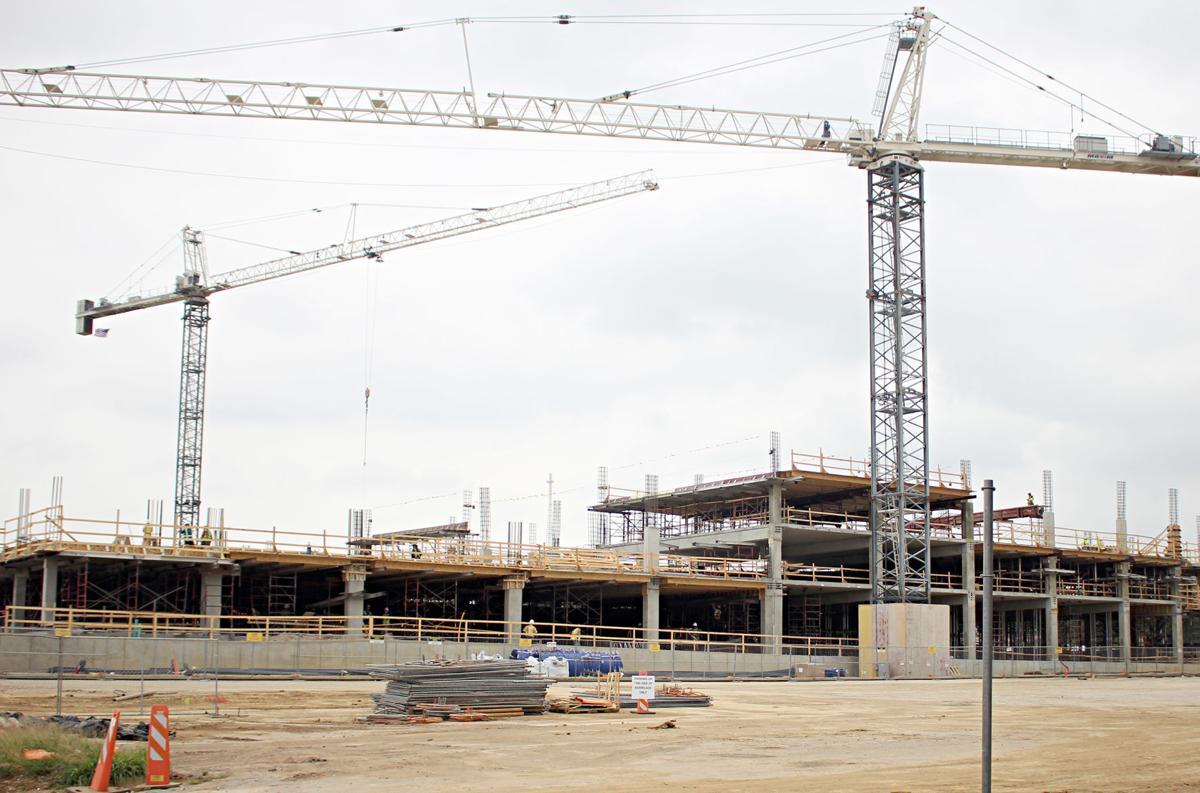 West campus parking garage construction