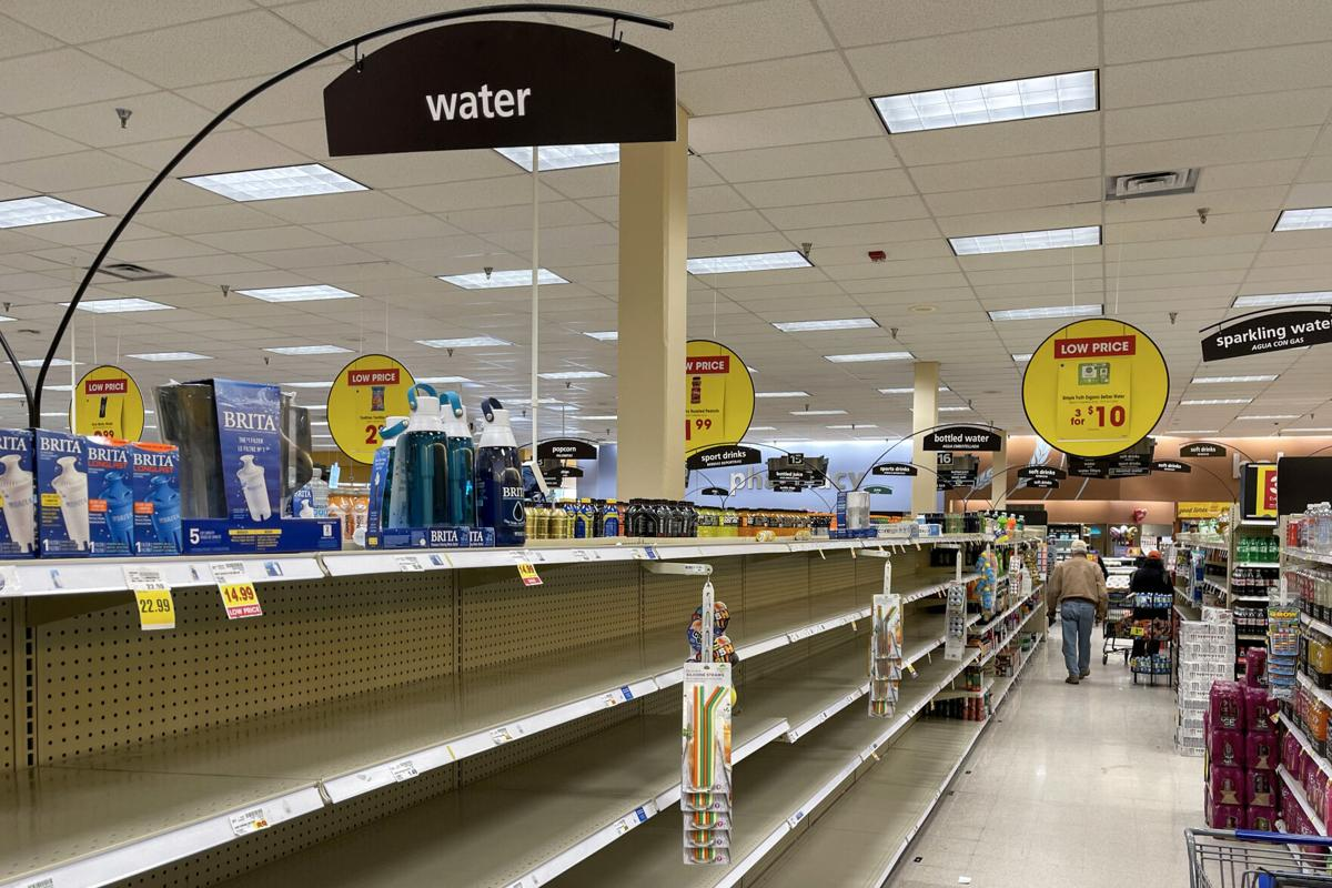 Panic buying during winter storm leaves local store shelves empty