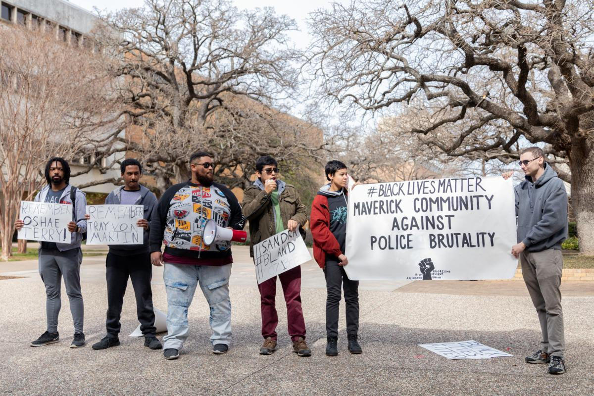 Progressive Student Union rallies against police brutality