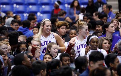 Photos: Children cheer as Lady Mavericks defeat University of Louisiana at Lafayette on Kids Day